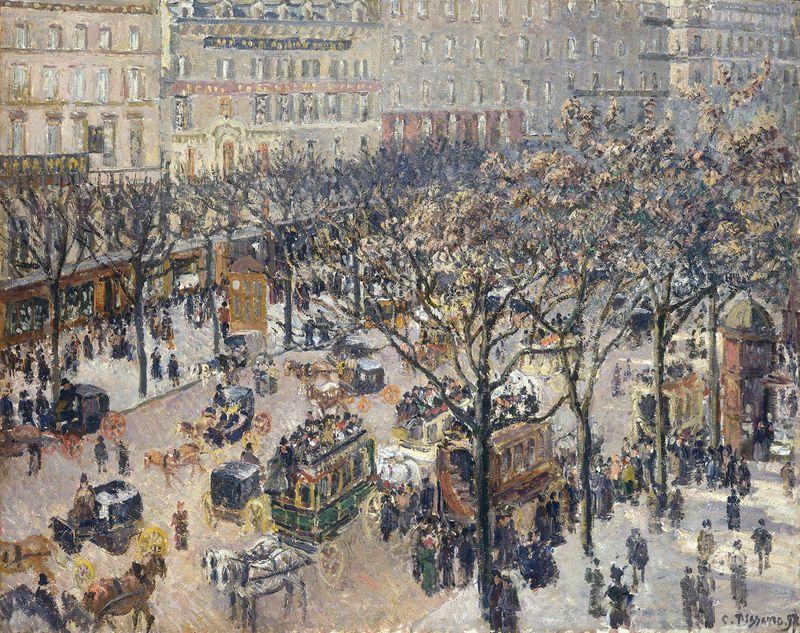 Afternoon Rain by Camille Pissarro Boulevard Montmartre Paris 8x10 Print 1512